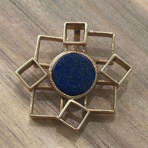 Jewelry - Solid 14k Yellow Gold HEAVY Lapis Lazuli Pendant